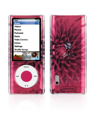 Griffin iClear Sketch Polycarbonate Case for iPod nano 5G -Bloom Black