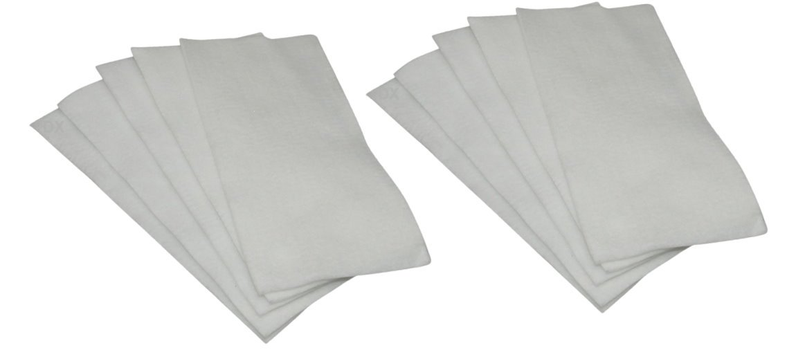 DREHFLEX® – 10 Micro filtros/filtros de aire/motor/corte de filtros para filtros de tamaño – Para Diferentes máquinas de vacío Miele – ca. 7,3 x 3,5 ...