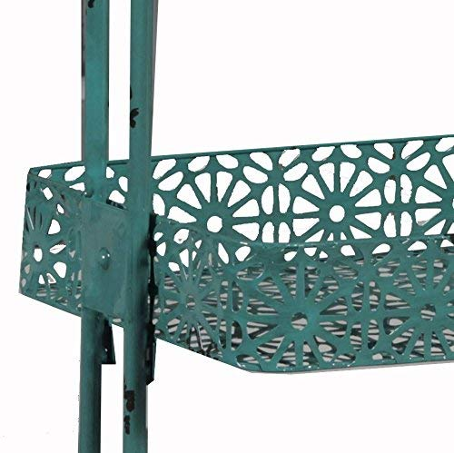 Linon 3-Tier Cart Metal, Turquoise by Linon (Image #4)