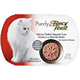 Purina Purely Fancy Feast Natural Flaked Skipjack Tuna Entree Cat Food, 2-Ounce Pouch, Pack of 10
