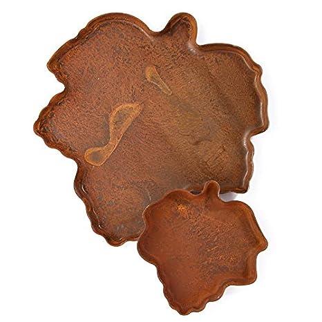 Paquete de 6 Rusty tin hoja de arce vela sartenes para decorar, manualidades, arreglos y crear: Amazon.es: Juguetes y juegos