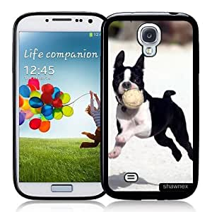 Cool Painting Galaxy S4 Case - S IV Case - Shawnex Boston Terrier Puppy Cute Boston Terrier Samsung Galaxy i9500 Case Snap On Case