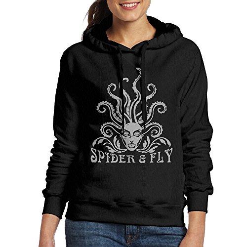 Lonekit Women's Medusa Fly Logo Hooded Sweatshirt -