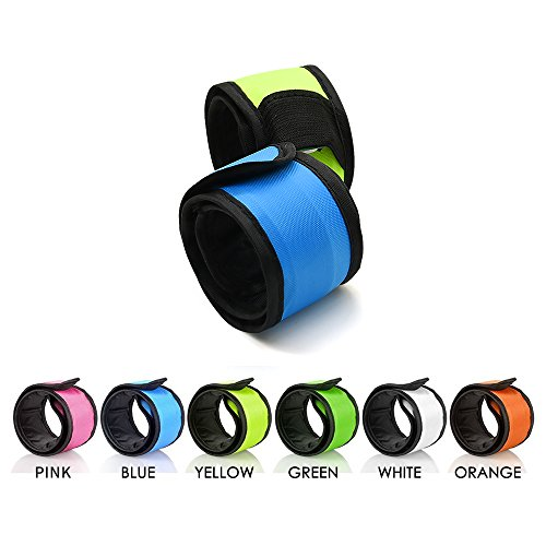 esonstyle 6 Halloween Safety Lights Glow Band Safety Gear Lights for Cycling Walking Running, Replaceable Battery 4 Modes Lights for Running at Night