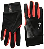 Nike Men's Tech Thermal Running Gloves Large Black/Red/Reflective Silver