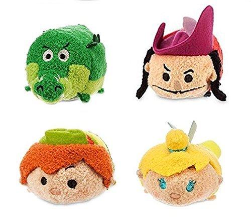 Tsum Tsum Mini - Peter Pan Set of 4 - Peter Pan, Tinker Bell, Crocodile and Captain ()