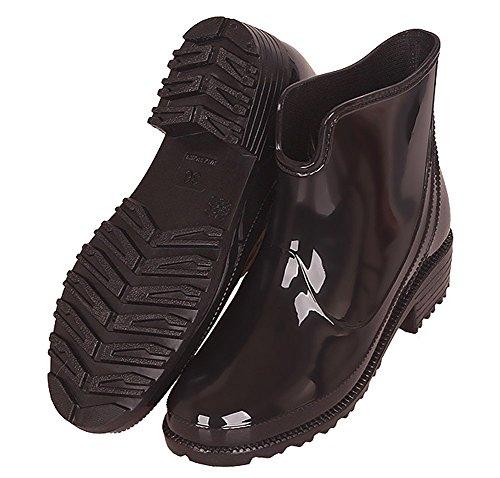 Stivaletti Scarpe per Impermeabile Donna da Stivali alla Moda Antiscivolo Equitazione Stivali Gomma Donna di Pioggia Nero Chelsea Boots da nawRq8Cw4Z