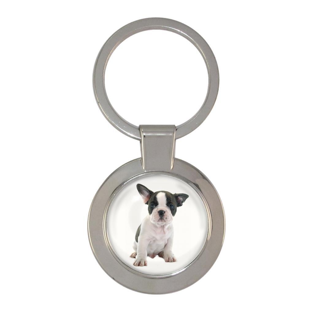 Bulldog Francés Cachorro Imagen Metal Llavero Macizo en Caja ...