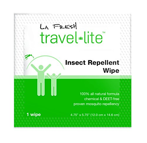 La Fresh Mosquito Repellent Wipes, Individually Wrapped – Natural, Deet Free, Non Toxic, Long Lasting Repellent Protects Against Almost All Bugs 200 Packets by La Fresh