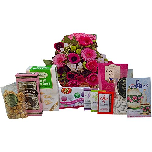 Cookie Bouquet Gift Basket - Blooming Gift Bag of Tea, Sweets and Treats