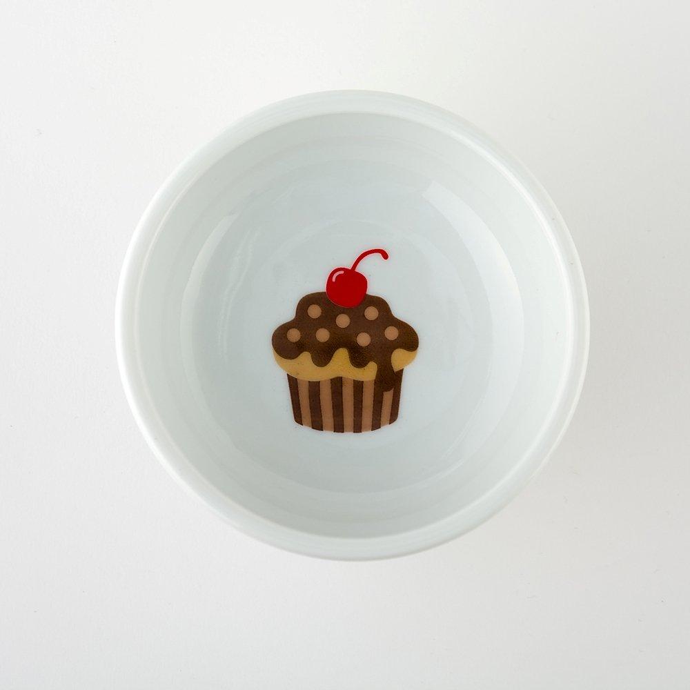 Necoichi Raised Cat Food Bowl (Cupcake)