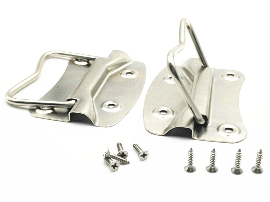 XJS Stainless Steel Flush Mounted Type Crates Boxes Puller Chest Handle with Mounting Screws (100x70mm)