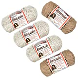 Craft County - Bonnie Macramé Cord - 5 Pack - 6mm - 100 Yard Length - Variety of Colors