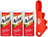 By The Cup Measuring Spoon Bundle - Accent Flavor Enhancer, 4.5 Ounce Shaker (Pack of 3) - with Exclusive By The Cup Swivel Measuring Spoons