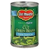 Del Monte Blue Lake Cut Green Beans LOW SODIUM 14.5 Oz. (3 Pack)