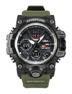 V2A Analogueue - Digital Men's & Boy's Watch (Black Dial)