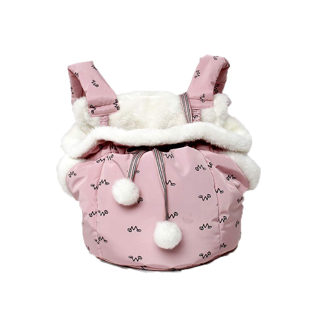 Pet Carrier,Keep Warm Hand Free Sling Outdoor Travel Bag Safety Carrying for Small Dogs and Cats,Pink by Caige