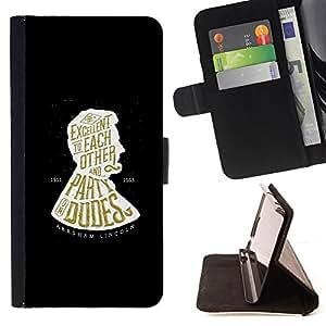 /Skull Market/ - PARTY DUDES BOOK BLACK ABRAHAM For Samsung Galaxy S5 Mini, SM-G800 - Caja de la carpeta del tir???¡¯???€????€???????&