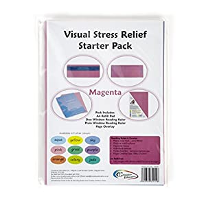 Crossbow Education Visual Stress Relief Starter Kit – Aqua Blue- Parent