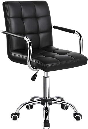 yaheetech chaise de bureau pivotante