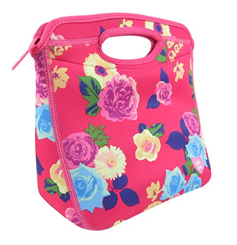 Arctic Zone Lunch Bag Tote Insulated Cooler for School Travel Picnic 10 x 10 Pink Foral