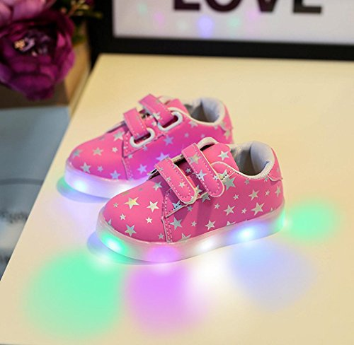 Covermason Kinder Baby LED Schuhe Sneakers Krippenschuhe Sportschuhe Rosa