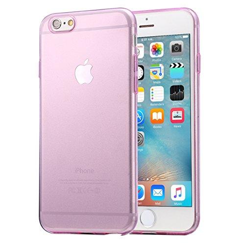 wortek iPhone 6/S Schutzhülle Pink TPU Case Liquid Crystal Ultra Slim Cover Schlank Bumper [CAMERA-PROTECTION]