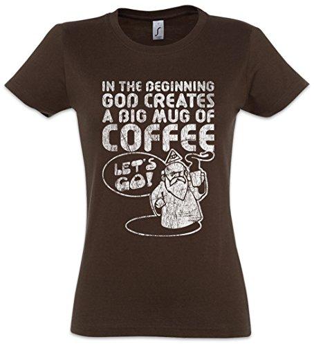 Urban Backwoods God Creates A Big Mug of Coffee Women Girlie T-Shirt