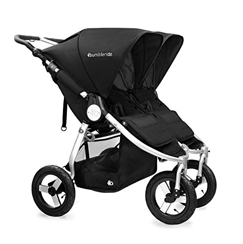 Bumbleride 2016 Indie Twin Stroller with SPF 45 Sun Canopy Extension … (Silver Black)