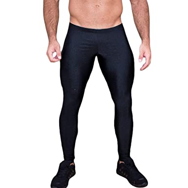 a4473d2c091e82 dPois Mens Sexy Comfort Sheer Mesh Skinny Slim Muscle Tights Sports Fitness Long  Johns Thermal Leggings