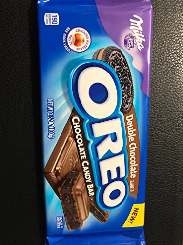 Milka Oreo Double Chocolate Flavored Chocolate Candy Bar 3 5Oz X 5Count