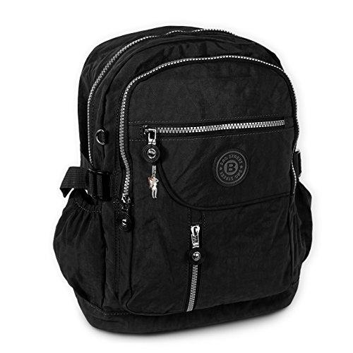 imppac - Bolso mochila de Material Sintético para mujer negro negro