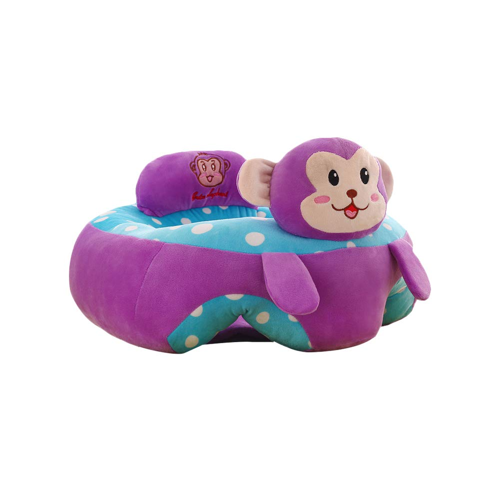 Baby Chair Sofa,Bloomma PP Cotton Baby Support Seat Sofa 4 Kinds of Differents Plush Soft Animal Pattern Baby Learning Sitting Chair for More Than 3 Months Baby