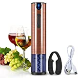 Electric Wine Opener Rechargeable Corkscrew Bottle Opener with Foil Cutter Stainless Steel Materials