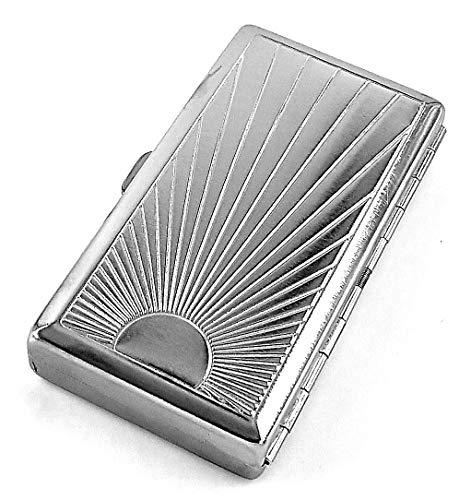 estuche de metal vintage para cigarrillos Ray Pattern