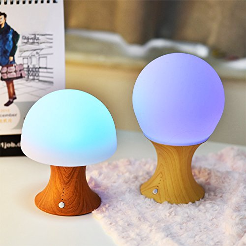 Zehui Color Changing Silicone Mushroom Table Light Colorful LED Timer Night Lamp (Unc Pool Table)