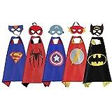 Batman - Superman - Spiderman - Captain America & Flash Superhero Costumes w Masks