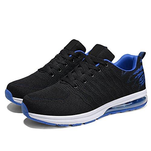 Damen Sneakers Ultra mit Luftpolster Atmungsaktives Sportschuhe Unisex 2 Laufschuhe Light Freizeitschuhe blau Turnschuhe VITIKE Herren vTxqS5wWU