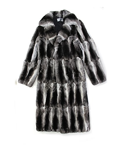 713226 New Mens Natural Chinchilla Fur Full Length Coat Stroller Jacket 42 Chinchilla Coats Men