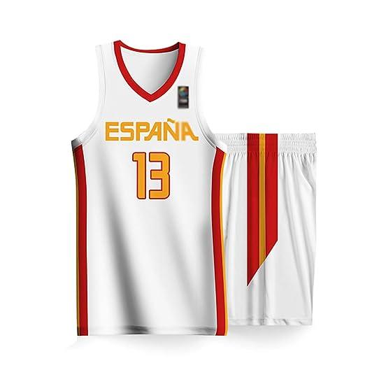 Copa del Mundo de Baloncesto Masculino España Nacional Jersey del ...
