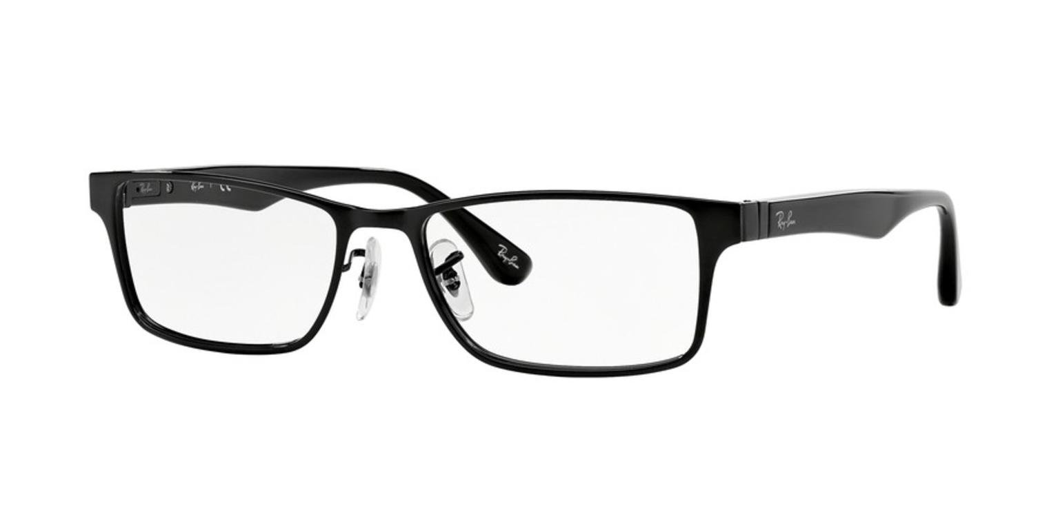 dd38d395f00 Galleon - Ray-Ban Unisex RX6238 Eyeglasses Shiny Black 55mm