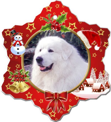 Great Pyrenees Porcelain Holiday ()