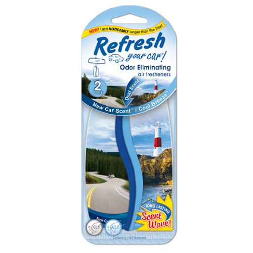 Refresh Your Car 09031 Dual Scent Paper Air Freshener, 2 Per Pack, Fresh Strawberry and Cool Lemonade - Car Dual Scent