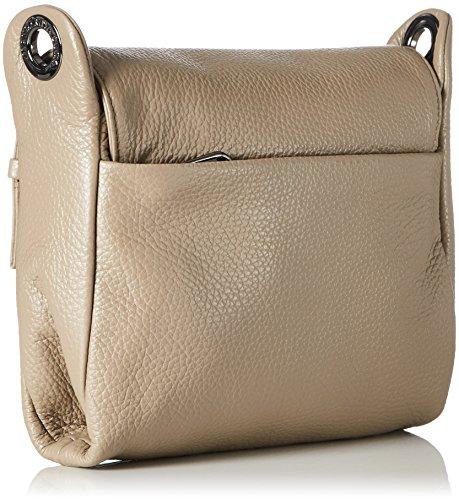 A Mellow Tracolla Taupe Duck Donna Borse Leather Mandarina Spalla Grigio simply 5BXqRw