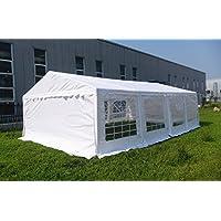 OTLIVE 16x26 Foot Wedding Party White Gazebo Event Tent Storage Shed Car Shelter Heavy Duty Pavilion (White)
