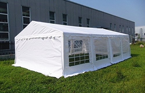 OTLIVE 16x26 Foot Wedding Party White Gazebo Event Tent S...
