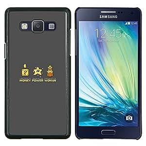 EJOOY---Cubierta de la caja de protección para la piel dura ** Samsung Galaxy A5 A5000 ** --Poder del Dinero Mujer divertido juego