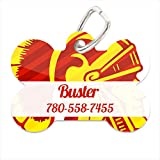 NCAA USC Trojans Grunge Design Custom Pet ID Tag