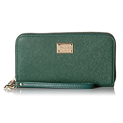 Eurlove Women PU Leather Wallet, Multifunctional Zipper Clutch Purse with Large Space for Money, Cards and Phone (Green)