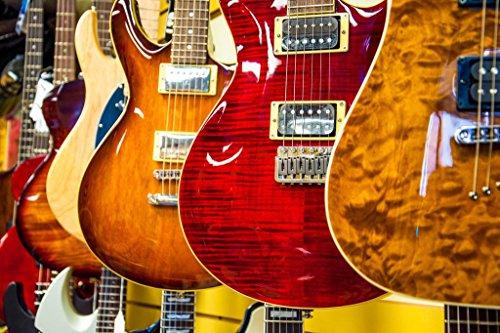 Choices Choices Electric Guitars Photo Art Print Poster 36x2